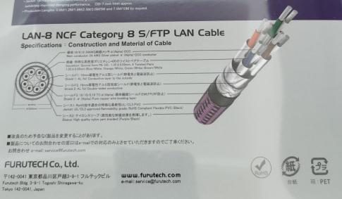 Furutech LAN 8 NCF back side package details
